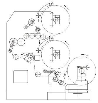 双层共挤吹膜机的设计图