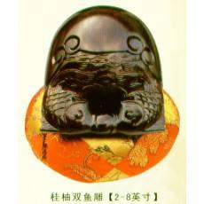 桂柚双鱼雕