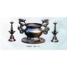 供桌香炉、烛台