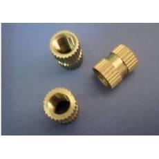 铜镶嵌件螺帽 铜嵌件 铜预埋件 铜滚花螺母 M3x5x4