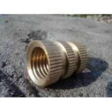 铜花母 滚花螺母 注塑铜螺母 铜嵌件 双通滚花螺母