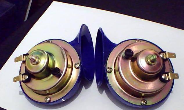 供应汽车摩托车双音蓝色小蜗牛电喇叭dl32 60b