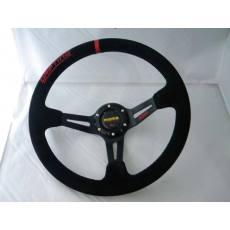 MOMO方向盘 14英寸绒皮/PVC方向盘 赛车改装方向盘