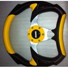 供应255MM新款 真皮/绒皮方向盘 赛车改装方向盘
