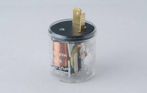 供应12v 40a汽车闪光器继电器24v 圆型闪光器 透明 长