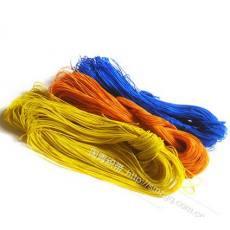 厂价大批量供应 供应涤纶绳 0.8mm 天蓝色 手机绳原料 挂牌绳