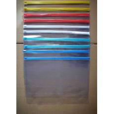 厂家供应透明软性拉链式pvc袋 文件袋 资料袋PVC交频烫压袋子
