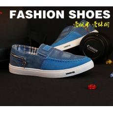 换季特价男士注塑板鞋时尚韩版男鞋潮一脚蹬帆布鞋懒人鞋拼色混批