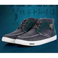 特价断码水洗牛仔帆布鞋平底防滑牛筋底男鞋韩版潮系带高帮学生鞋