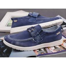 温州男款水洗牛仔帆布鞋 韩版潮流懒人套脚单鞋 透气低帮鞋 特价