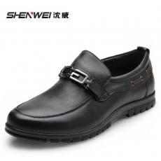 沈威 春秋款商务男鞋 皮鞋 低帮鞋 真皮鞋 套脚懒人鞋