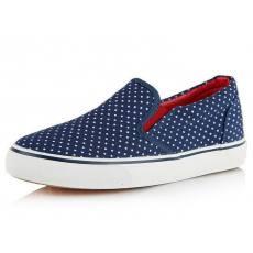 正品新款批发 结实圆点防滑一脚蹬懒人鞋低帮鞋女帆布鞋S-01