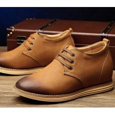 秋款男士隐形内增高真皮男鞋8cm韩版潮鞋休闲皮鞋透气增高鞋批发