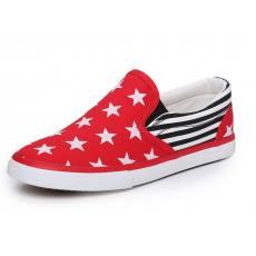韩版一脚蹬平底帆布鞋星星版夏季透气学生鞋