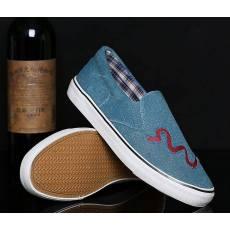 名豹2014春季新款单鞋一脚蹬帆布鞋牛筋底二次硫化帆布鞋批发