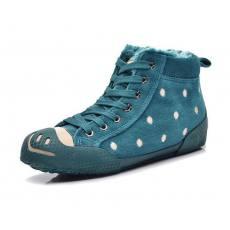 时尚休闲学生女鞋圆点低帮加厚系带鞋
