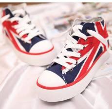 时尚百搭 韩版米字旗经典款中帮 一本帆布鞋 511#