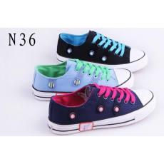 飞耐 厂家直销新款小清新学生女帆布鞋 休闲布鞋 N36