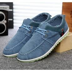 新款男士休闲鞋 夏季水洗帆布男鞋透气板鞋潮流单鞋子