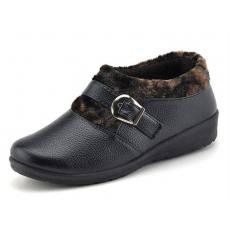 PU妈妈鞋 中老年保暖棉鞋子