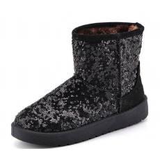 赛鹏新款橡胶软底雪地靴