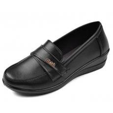 厂家直销职业女单鞋坡跟女鞋浅口工作鞋妈妈鞋