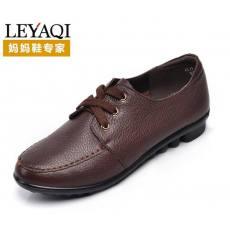 真皮女鞋休闲低跟坡跟女士单鞋妈妈鞋C4B012