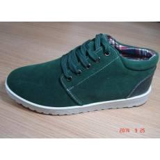 韩版新款单面绒色拼PU注塑耐磨防滑男鞋长期有货