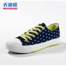 2014新款 帆布鞋女韩版秋新款潮学生圆点瑞安鞋厂家批发