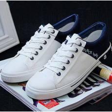 新款简单休闲时尚系带低帮男士帆布鞋