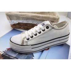 松糕帆布鞋 女 学生厚底纯色经典款韩版 瑞安布鞋特价