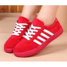 学生百搭红黑蓝色鞋一件代发