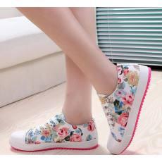 小碎花平底增高女鞋 厂家批发 一件代发