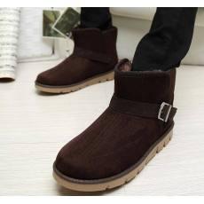 最兴潮男士正品情侣棉鞋 搭扣短低筒靴子 冬季保暖雪地靴棉鞋批发