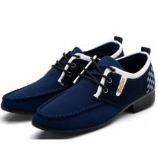 夏季新款男鞋 时尚休闲潮流皮鞋 系带透气高级PU男单鞋