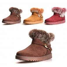 qile600_2014新潮女款带毛超暖棉鞋
