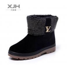 温州时尚女靴【低价促销】 磨砂布矮筒雪地靴