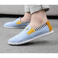 潮流韩版男式帆布鞋一脚蹬休闲男鞋