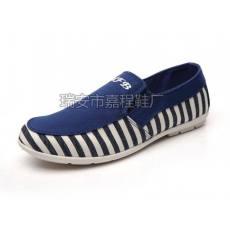 2014新款男鞋 时尚休闲条纹帆布鞋 L-138