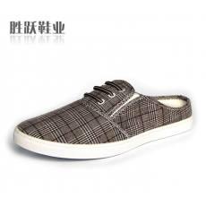 新款低帮帆布拖鞋男单鞋日常韩版全棉潮鞋男鞋713