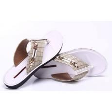 平跟39码现货皮革拼接凉鞋牛皮真皮乳白色圆头凉鞋