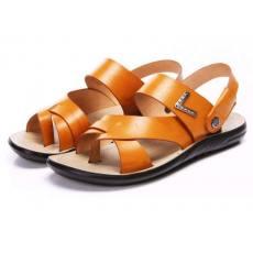 夏季新款商务休闲凉鞋沙滩鞋男士头层牛皮凉鞋