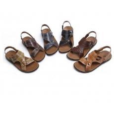 新款真皮沙滩鞋男式夏季男士皮凉鞋
