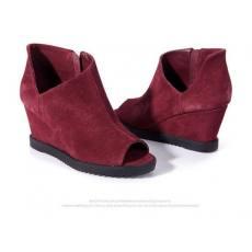 2014春季新品头层牛皮鱼嘴鞋时尚坡跟女鞋