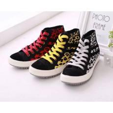 齐发娱乐官方网站_杰维斯新款女鞋豹纹控高帮帆布鞋