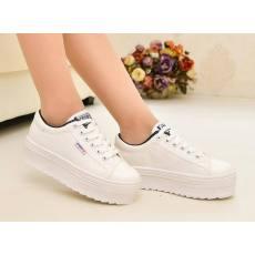 低帮帆布鞋内增高女韩版潮 学生厚底松糕鞋