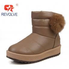 匡特威冬款雪地靴女 皮毛一体女短靴