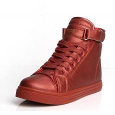 秋季新款潮流百搭PU面女鞋平底休闲高帮学生短靴女鞋