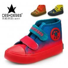 迪星鞋业2014秋款品牌童鞋芭芭鸭同款儿童帆布鞋