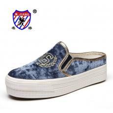 名将 2013夏季新款厚底鞋松糕跟 女低帮韩版潮甜美套脚懒人鞋